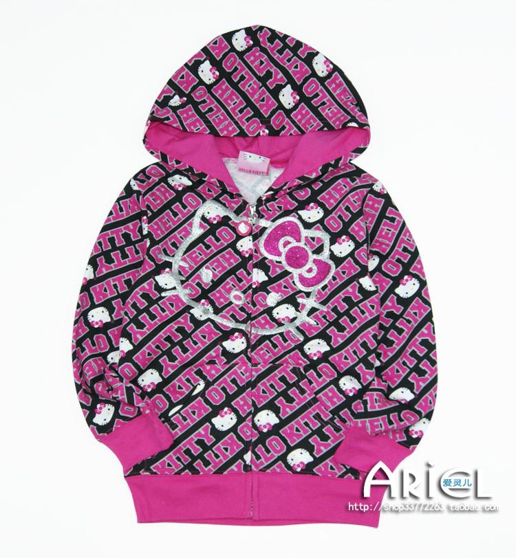 new arrival HOT SALE Kids girls hello kitty hoodies coat thicken baby hooded Sweatshirts hoodies jacket sportswear SD583(China (Mainland))