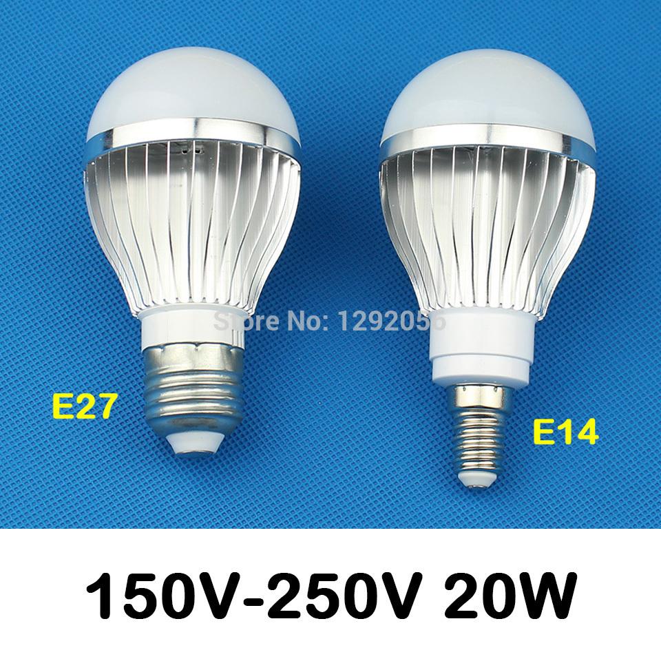 E27 LED E14 LED LAMP 220V Metal led bulb 10W 18W 20W LED light Free Shipping(China (Mainland))