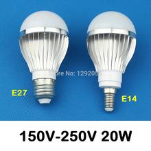 E27 LED E14 lampe LED 220 V métal LED ampoule 10 W 18 W 20 W LED lumière livraison gratuite(China (Mainland))