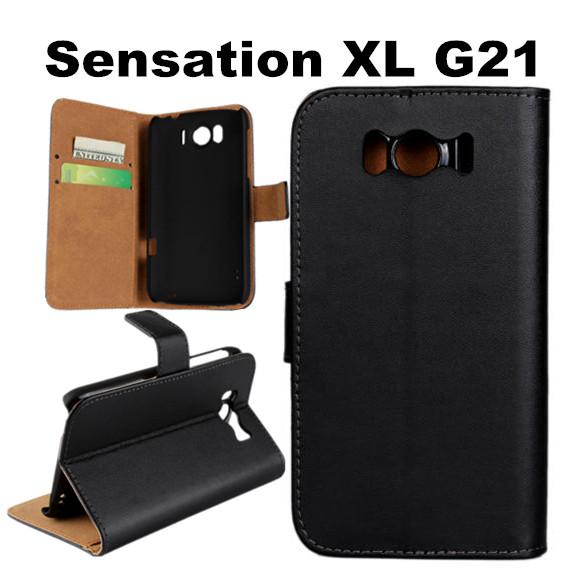 T02 Для HTC Sensation XL G21 Случае, Бумажник Чехол С Слот Для Карты Футляр Из Натуральной Кожи Для HTC Sensation XL G21
