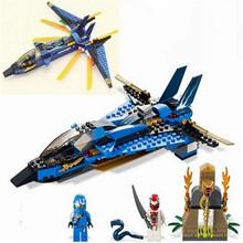 BELA 241pcs Phantom Ninja Ninjago JAY'S Storm Fighter Masters Of Spinjitzu Minifigures Building Blocks Compatible for Lego 9442(China (Mainland))