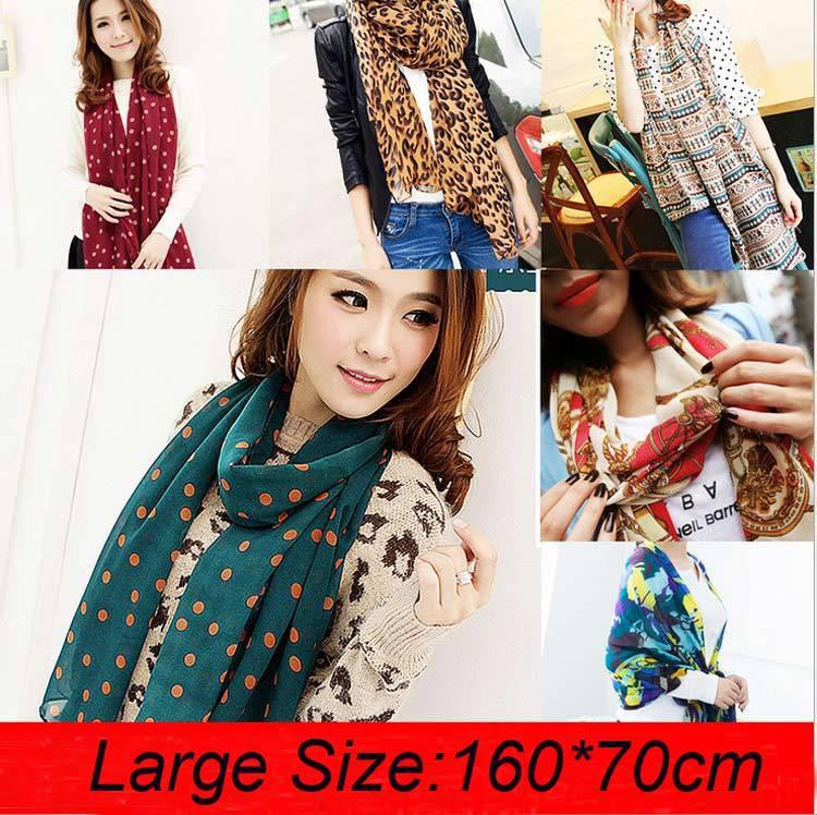 20 Types Chiffon Scarf Cheap Scarves Polka Dot Scarf Womens Scraf Fashionable Prices In Euros Scarf Set Keffiyeh Calavera Colar(China (Mainland))