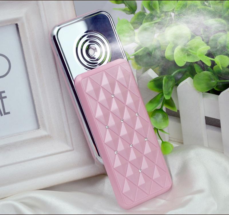 New Face Care ferramentas Handy Nano névoa pulverizador portátil Facial máquina da beleza cor de rosa Facial ferramentas grátis frete(China (Mainland))
