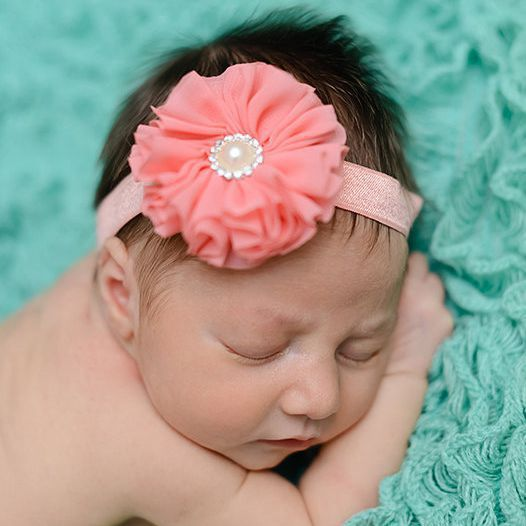 Hot Selling 15 color High Quality Baby Flower Hair Band Pearl Diamond Tiara baby Hair Accesorie(China (Mainland))
