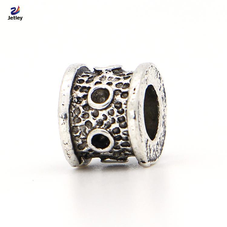 Fashion 1pc Silver Bead Charm European Small Black Point Heart Fashion Bead Fit Pandora Bracelets Necklace