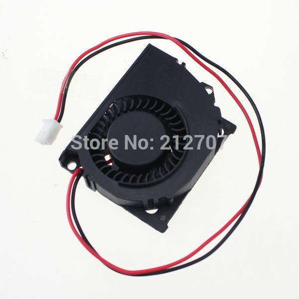 2 Pieces/Lot 50x40x10mm 40mm 0.15A Black Brushless DC Cooling Blower Fan 12V(China (Mainland))