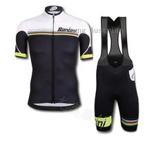 santini cycling clothing / jersey bib short cycling 2015 clothes / ropa ciclismo Santini jersey + santic sportwear mtb-XS-XLLL(China (Mainland))