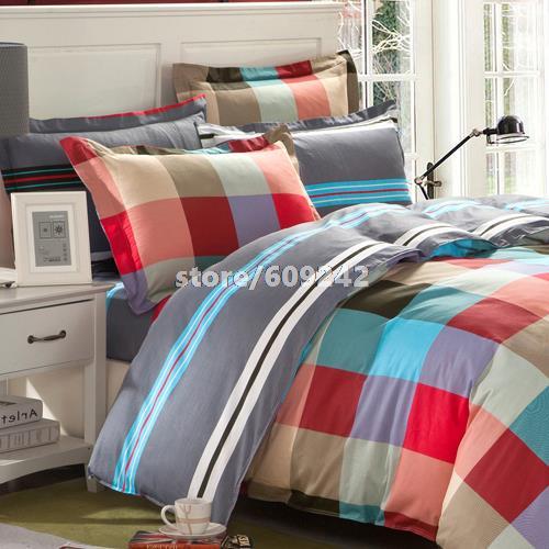 100% algodão impressão reativa jogo de cama em malha / 4 peça um set / edredon luxo conjuntos de tampa / bed sheet set / roupa de cama / #45(China (Mainland))