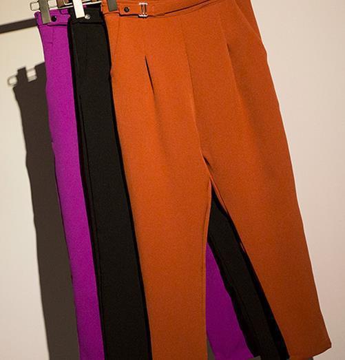 Elegant Womens Orange Dress Pants Images