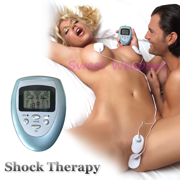 Free Shipping New Shock Therapy, Slimming Massager, Electro Sex Kit, E-Stimulation, Sex Toys, Nipples Clitoris Body Massager(China (Mainland))