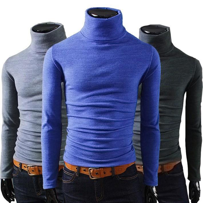 Мужской пуловер ``` 2015 Turleneck Slim Fit 088