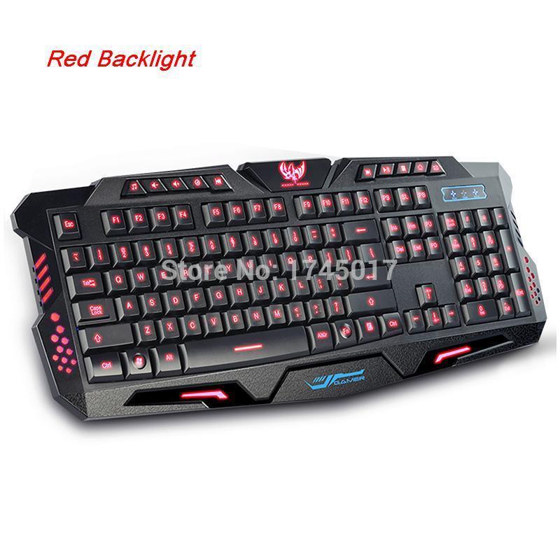 Modern mechanical habergeons backlit keyboard cf desktop laptop lol luminous wired gaming keyboard(China (Mainland))