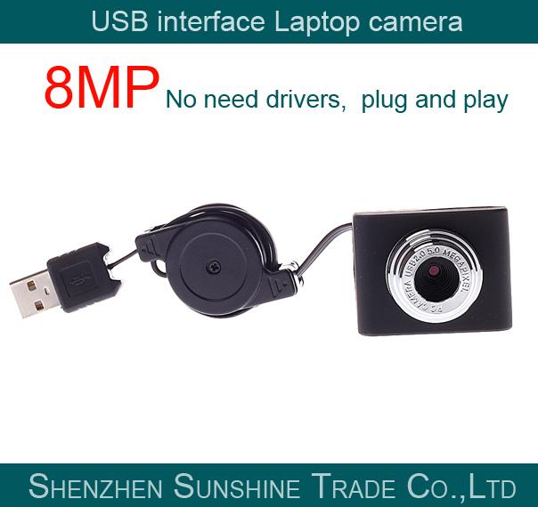 100% Brand New Mini USB 8MP WebCam Web Camera CMOS 30fps No Need Driver Plug and Play Laptop Camera(China (Mainland))