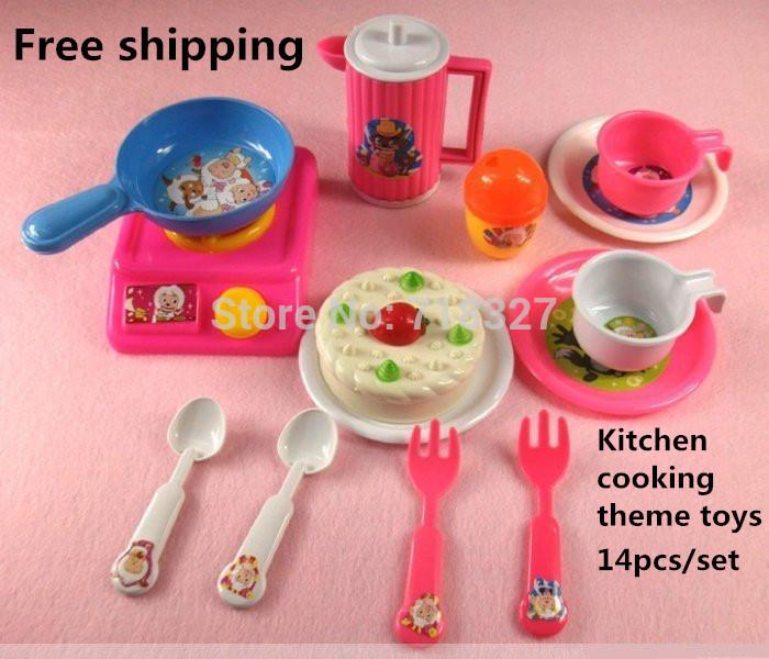 Simulation jouet ustensiles de cuisine 14 pcs set g teau for Set ustensiles de cuisine