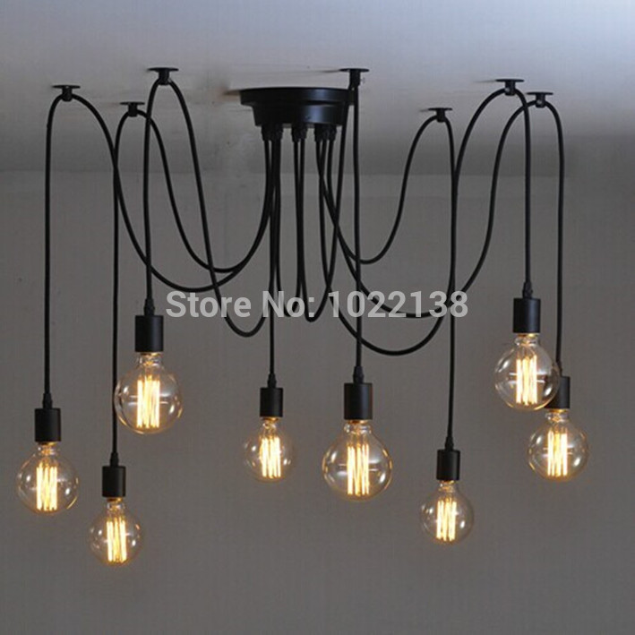Loft American country industrial Warehouse Edison Vintage Ceiling Lamps for Home, 6 lights 8 lamps 10 lights 12 lamps 14 bulbs(China (Mainland))