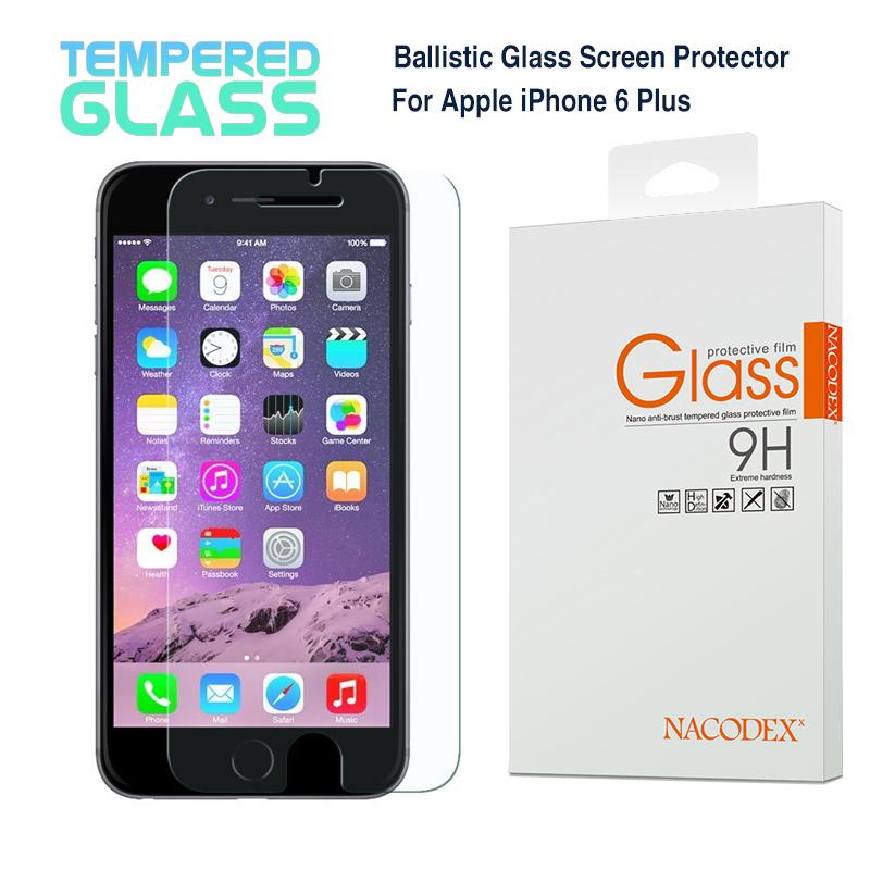 Brand New For Apple iPhone 6 PlUS (5.5'') Nacodex Premium Tempered Glass Screen Protector Pelicula Protetora protective film(China (Mainland))