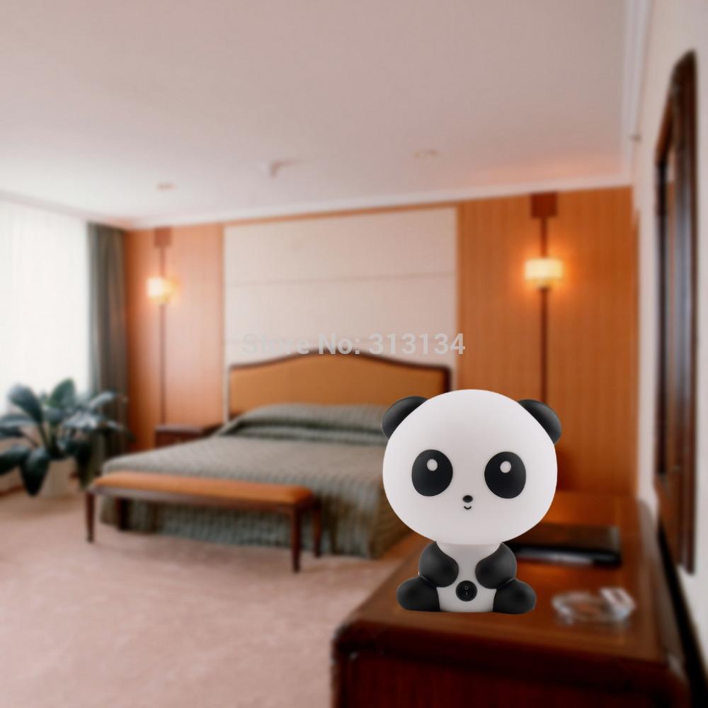 1pcs 2015 Cute Panda Cartoon animal night light,Kids Bed Desk Table Lamp Night Sleeping led night lamp Gift(China (Mainland))