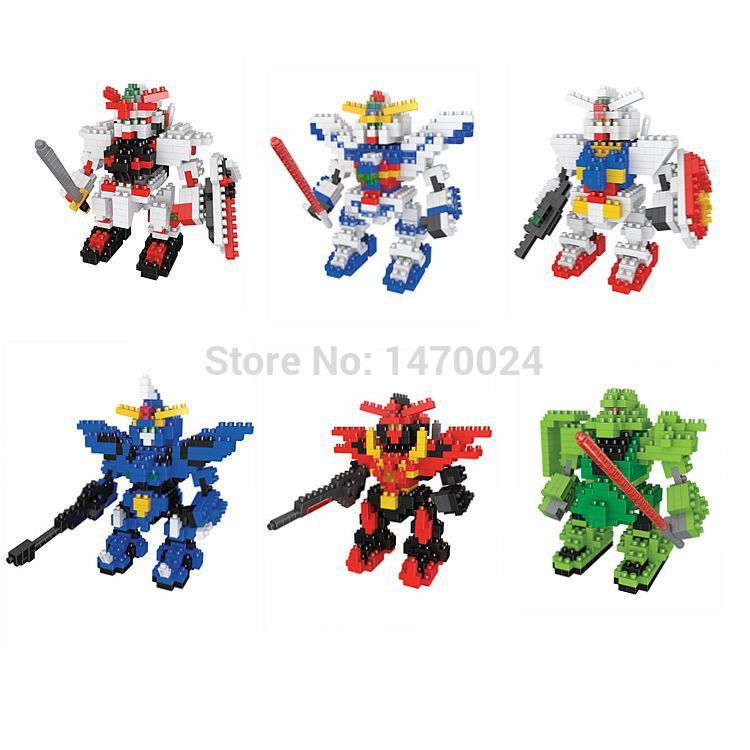 One Piece BOYU Diamond Building Blocks GUNDAM Assemble Scale Model Toys / 3D Action Figure DIY Children Education Toy/ Brinquedo(China (Mainland))