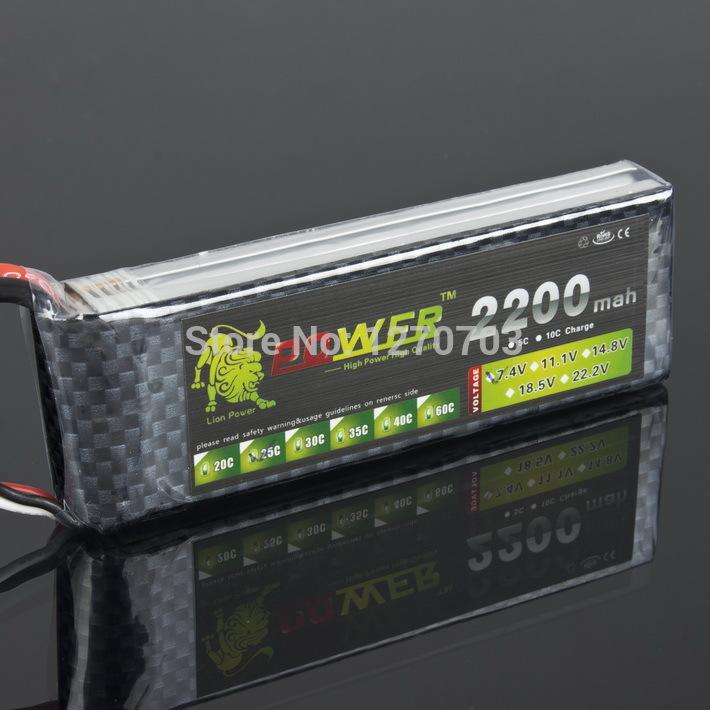 LION POWER 7.4 v Model aircraft, Large Capacity 2200mah 25C Ring 734 automotive F45 Life Lithium Battery Free shipping(China (Mainland))