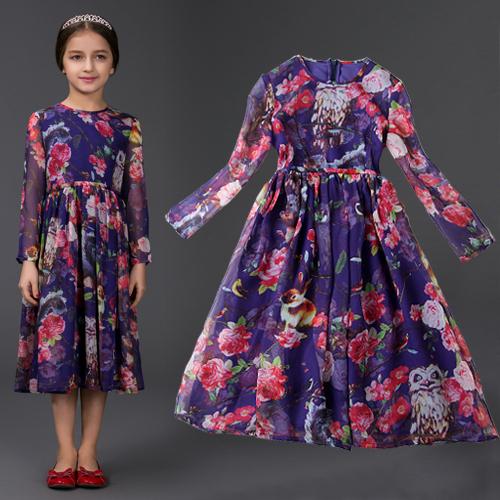 Платье для девочек Famous brand 2015 HYF-DS01-08 2015 08