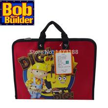 Original American Brand Cartoon Bob Builder Waterproof  Primary School Student Children Causal Handbag Kid Brifcase Bag For Boy(China (Mainland))