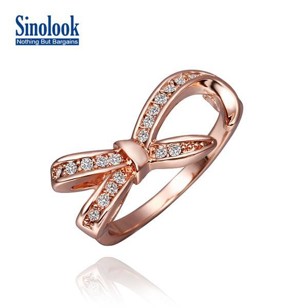 Bowknot Ring Fashion Women Bowknot Ring 18k
