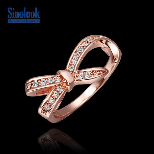 Bowknot Ring Fashion Women Bowknot Ring
