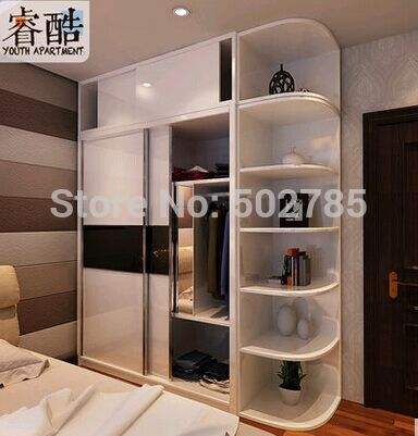 European rural solid wood four door wardrobe white French wooden big closet bedroom furniture as a whole(China (Mainland))