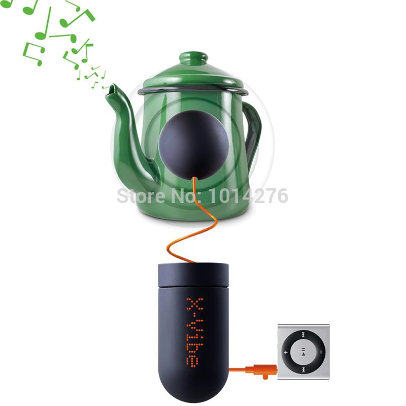 2pcs 2015 Novelty X-Vibe 3.0 Micro Phone Mini Vibration Speaker USB Rechargeable Music Boombox Vibro Speaker(China (Mainland))