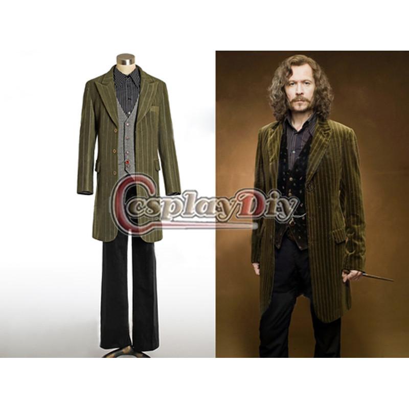 Custom Made Harry Potter Sirius Black Movie Costume For Adult Men Halloween Cosplay Costume(China (Mainland))