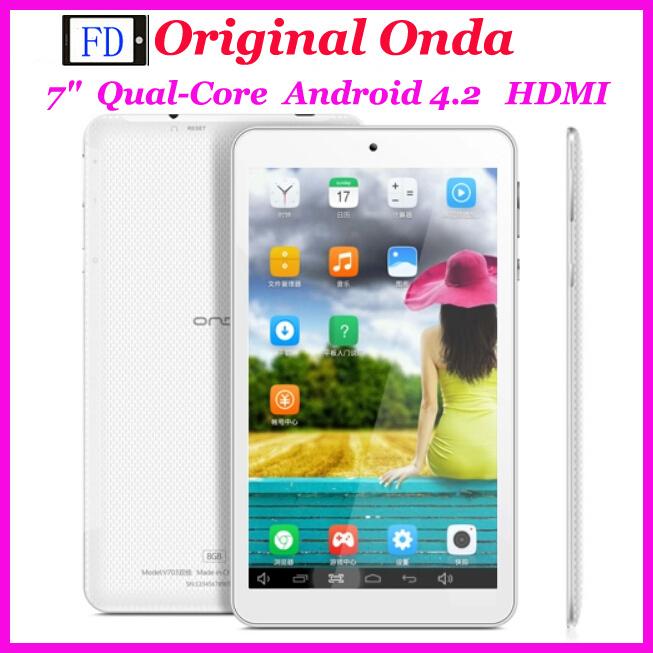 "7"" Onda v701s A31s Quad Core 512MB RAM 8GB ROM Android 4.2 HDMI OTG Webcam Onda Cheapest Qual-Core Tablet PC(China (Mainland))"