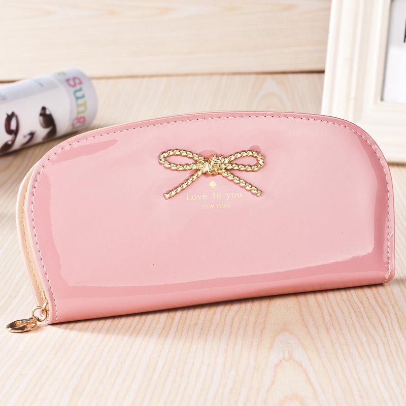 Fashion Zipper Bow lady wallet women wallet Handbag Coin Case Purse Mobile Phone Bags multifunction wrist bag card bag(China (Mainland))