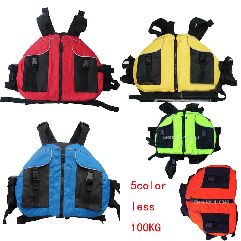 free shipping boyancy aids PFD, jacket kayak life jackets, white water rafting, sailing, canoeing 5 colors,40-100KG free size(China (Mainland))