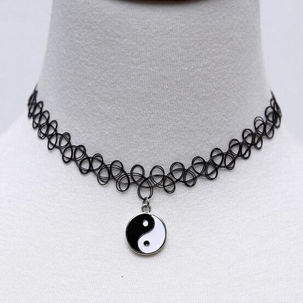 Tattoo Vintage Women Chock Necklace Collars Pendant Chain Elastic Fashion Jewelry 1pc(China (Mainland))
