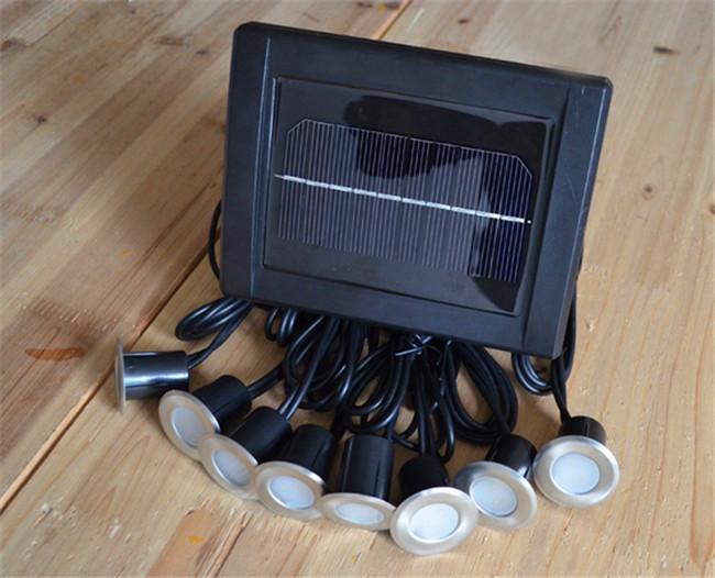 lighting solar stainless underground 16 led brick deck light solar. Black Bedroom Furniture Sets. Home Design Ideas