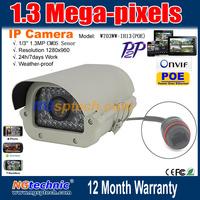 1/3'' CMOS Sensor Power Over Ethernet 1280x960 HD 960P 1.3MP POE IP Camera P2P/H.264/ONVIF 35 PCS IR LED Night Vision POE Camera