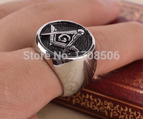 Freemason Ring Finger Masonic Signet Finger Ring