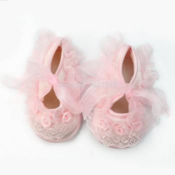 Принцесса Non-Slip новорожденный ребенок малышей младенческой девушка красивая кружева обувь для первых пешеходов, prewalker 0-12 месяц, бесплатная доставка