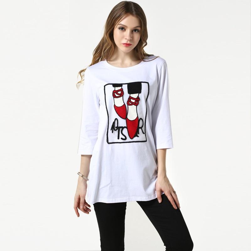 Женская футболка WAQIA v/100% t SA