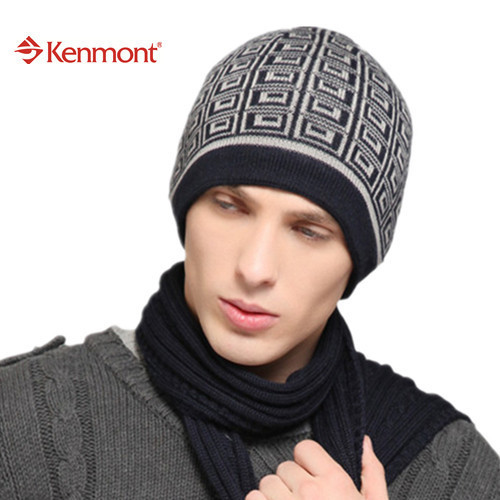 Kenmont New Unisex Women Men Winter Dark Colors Ski Outdoor Beanie Caps skull Wool Knit hats For Valentines Gift B-1349(China (Mainland))
