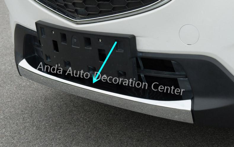 2012-2013 Mazda CX-5 front bumper chrome trim/grille guard trim,1pcs, Superior ABS chrome, free shipping.(China (Mainland))