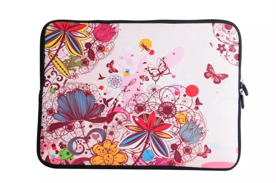 "Colorful Flower Pattern 13 "" 13.1 "" 13.3 "" polegadas Universal Laptop Netbook Sleeve Case bolsa capa bolsa(Hong Kong)"