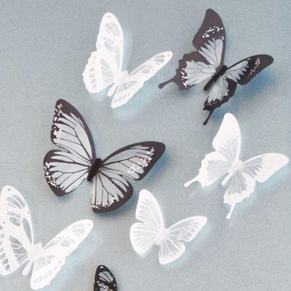 DIY 3D Butterfly Wall Art