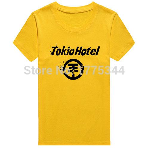 Top Quality Summer Men T-shirts TOKIO HOTEL Rock Music Band Logo T Shirts Short Sleeve Round Neck Casual Top Tshirts Camisetas(China (Mainland))