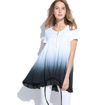 Loose Casual Women Summer Vestidos Dress Novelty Plus Size Female White Patchwork Dresses Large Big Size Knitted Ladies Clothing(China (Mainland))