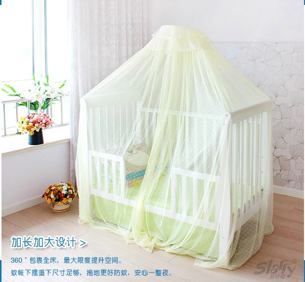 Plus Size High-grade Floor Type Mosquito Net for baby/Large Door-Open Suspension Type Lace Crib Net/Broadened Palace Dome Net(China (Mainland))