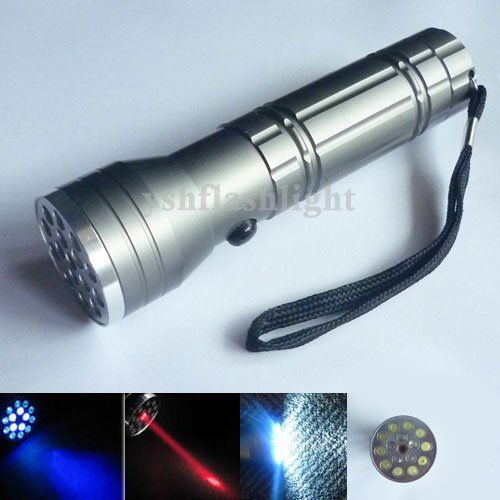 YM 10pcs Freeshipping 15 LED 3in 1 UV LASER Ultraviolet Flashlight light Lamp Torch light(China (Mainland))