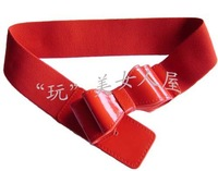 Free shipping fashion ladies' elastic waist belts Current bow elastic waistband exports elastic waist belts women's belts