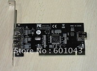 PCI IEEE 1394a Card 1394a FireWire 6P+4P to PCI Adapter Ti chip