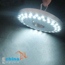 Free Shipping Portable 48 LED Lantern UFO Camping Tent Light with Hanger Wholesale 100 pcs(China (Mainland))